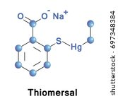 thiomersal or thimerosal  is an ... | Shutterstock .eps vector #697348384