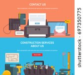 office and construction service ... | Shutterstock .eps vector #697350775
