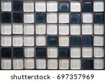 mosaic ceramic pixel pattern... | Shutterstock . vector #697357969
