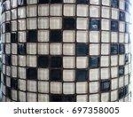 mosaic ceramic pixel pattern... | Shutterstock . vector #697358005