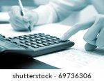 businessman working in his... | Shutterstock . vector #69736306
