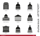 us state capitols  part 4   ... | Shutterstock .eps vector #697374397