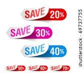 discount labels. vector. | Shutterstock .eps vector #69737755