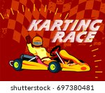 karting race | Shutterstock .eps vector #697380481