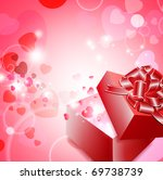valentine gift box with ribbon... | Shutterstock . vector #69738739
