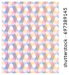 abstract pastel pattern with... | Shutterstock .eps vector #697389145