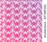 gradient abstract zigzag... | Shutterstock .eps vector #697389181
