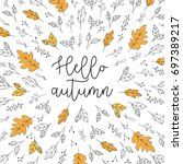 Hello Autumn Lettering With...