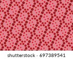 vector of abstract red circle... | Shutterstock .eps vector #697389541