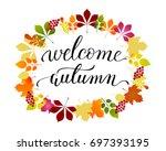 vector lifestyle lettering... | Shutterstock .eps vector #697393195