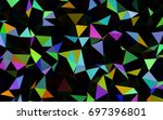 dark multicolor  rainbow vector ... | Shutterstock .eps vector #697396801