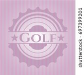 golf badge with pink background | Shutterstock .eps vector #697399201