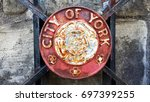Old Shield Of City Of York On...