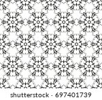 abstract seamless oriental... | Shutterstock .eps vector #697401739