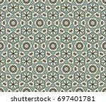 abstract seamless oriental... | Shutterstock .eps vector #697401781