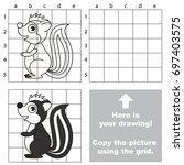 copy the picture using grid... | Shutterstock .eps vector #697403575
