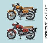 motorcycle illustration  tee... | Shutterstock .eps vector #697412179
