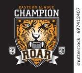 fight tiger illustration ...   Shutterstock .eps vector #697412407