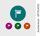 guidpost icon simple signpost... | Shutterstock .eps vector #697414531