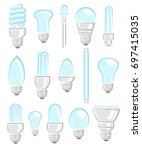 light bulbs set. vector | Shutterstock .eps vector #697415035