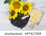 sunflower seeds | Shutterstock . vector #697417309