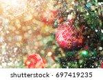 christmas scene. selective focus | Shutterstock . vector #697419235