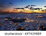 panoramic view of athens city...