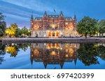 orebro city in sweden.... | Shutterstock . vector #697420399