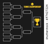 tournament bracket. tennis... | Shutterstock .eps vector #697427224