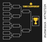 tournament bracket. tennis... | Shutterstock .eps vector #697427224