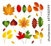 vector illustration  set of... | Shutterstock .eps vector #697430599