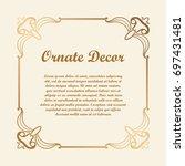 vector decorative element for... | Shutterstock .eps vector #697431481