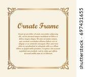 vector decorative element for... | Shutterstock .eps vector #697431655
