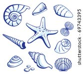 Sea Set From Starfishes And...