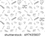 Rock Climbing Seamless Vector...