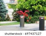 hydraulic retractable security... | Shutterstock . vector #697437127
