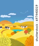 autumn outdoors landscape.... | Shutterstock .eps vector #697440019