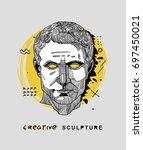 creative modern classical... | Shutterstock .eps vector #697450021