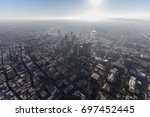 downtown urban los angeles hazy ...   Shutterstock . vector #697452445