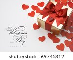 art valentine's greeting card | Shutterstock . vector #69745312