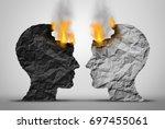 racial relations challenge and...   Shutterstock . vector #697455061