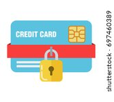 the concept of bank or credit... | Shutterstock .eps vector #697460389