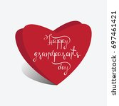 hearts and the inscription... | Shutterstock .eps vector #697461421