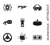 augmented reality icons set.... | Shutterstock .eps vector #697462015