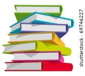 stack of multicolor books on... | Shutterstock .eps vector #69746227