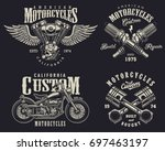 set of vintage custom... | Shutterstock .eps vector #697463197