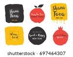 rosh hashanah  abstract jewish... | Shutterstock .eps vector #697464307