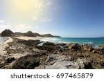 an amazing  tropical beach... | Shutterstock . vector #697465879