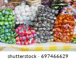 sale typical sweets in fair of... | Shutterstock . vector #697466629