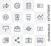 set of 16 commercial outline...   Shutterstock .eps vector #697470049